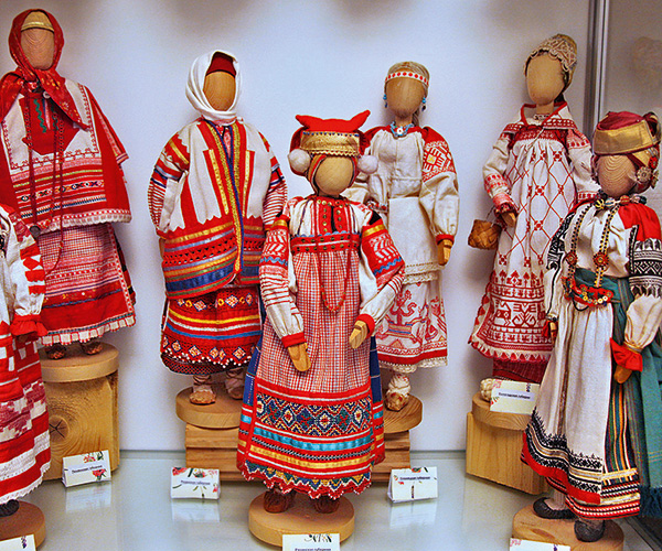 Russian Folk Costume in Miniature Mini-Museum